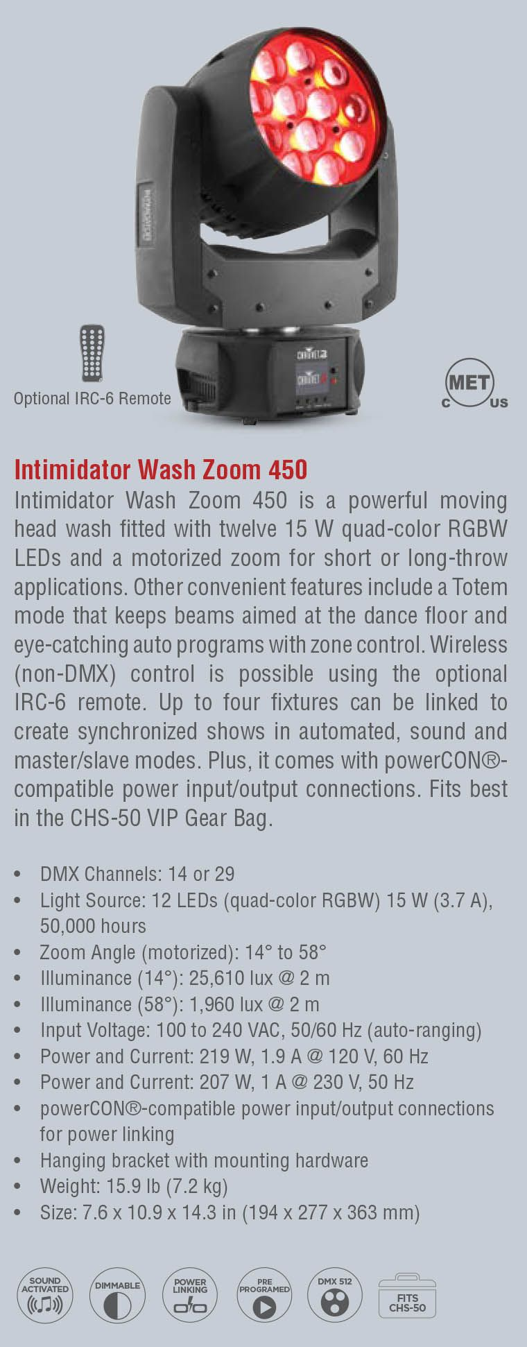 Intimidator Wash Zoom 450