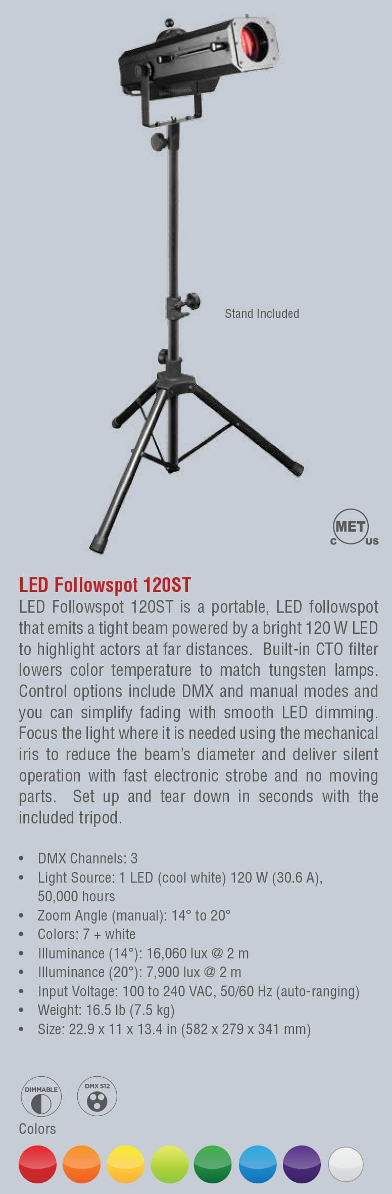 LED Followspot 120ST